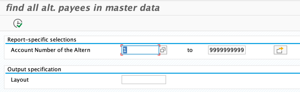 select vendors that have an alt. payee in the master data
